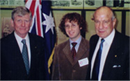 At Parliament House, Sydney, with the Chief Justice of Australia and Sir Laurence Street